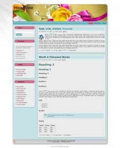 Feminine Glory theme screenshot