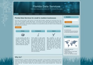 Florida Data Services screen capture