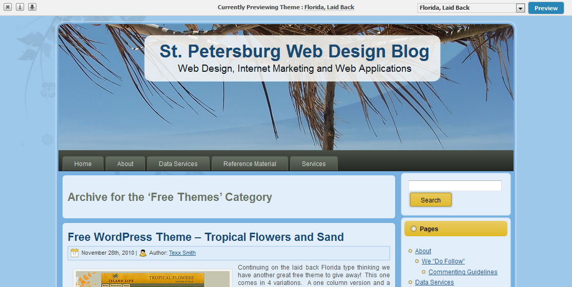 Free WordPress Theme – Florida – Laid Back