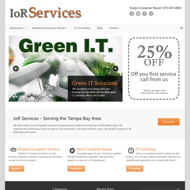 Responsive Web Site Built with WordPress